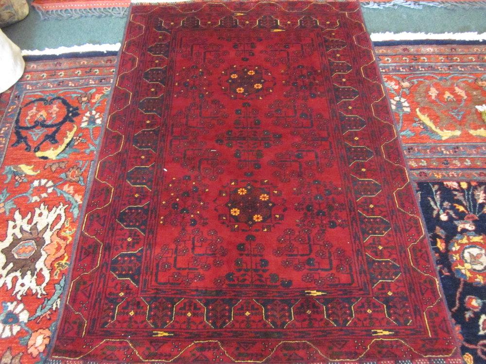 "#50) 3'3"" x 5' Turkoman rug."