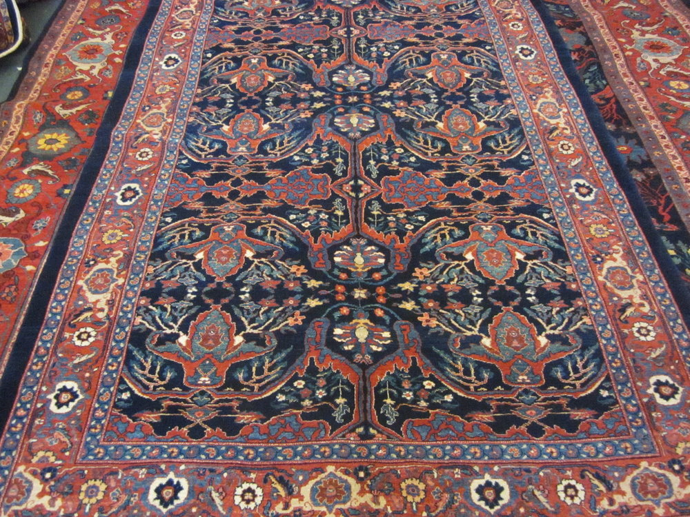 "5'2"" x 8'1"" Persian Bijar, Garrus design."