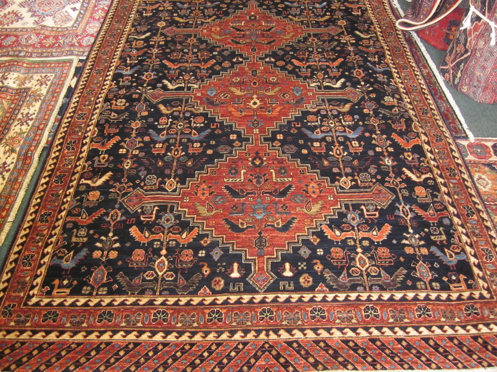 Beautiful Qashqai rug. Sold.