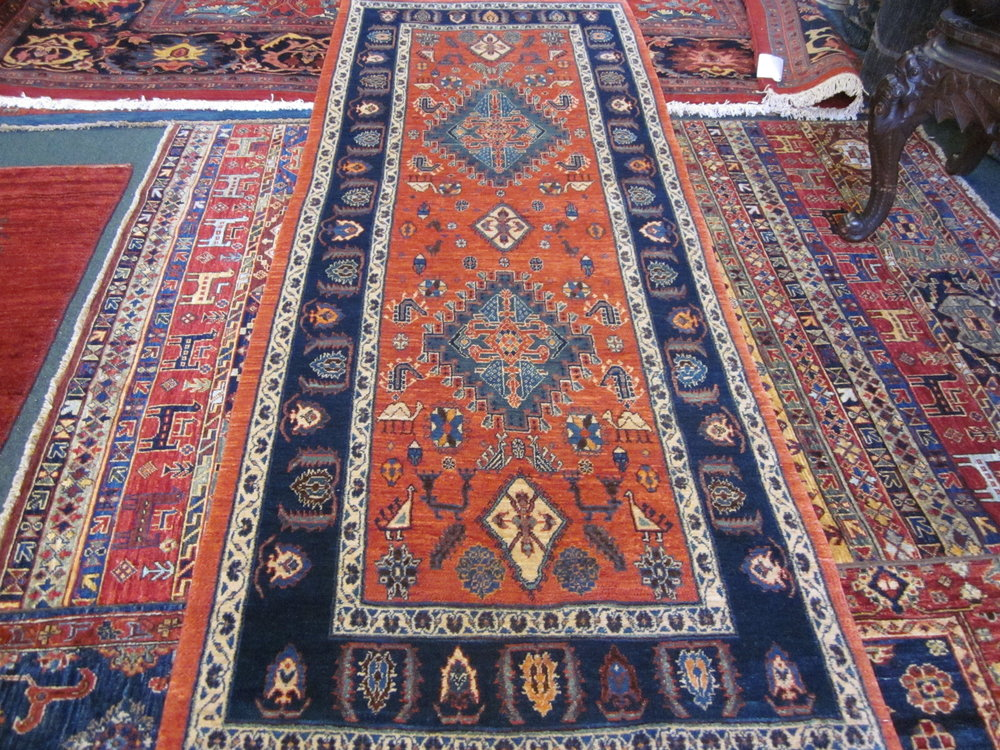 "#60) 2'9"" x 7'4"" Khamsehbaf runner. Beautiful!"