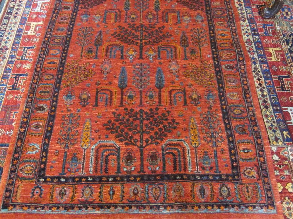 "3'6"" x 4'8"" Persian Tree of Life rug."