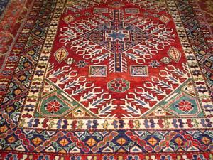 Wonderful 5 x 7 Afghan Kazak rug.