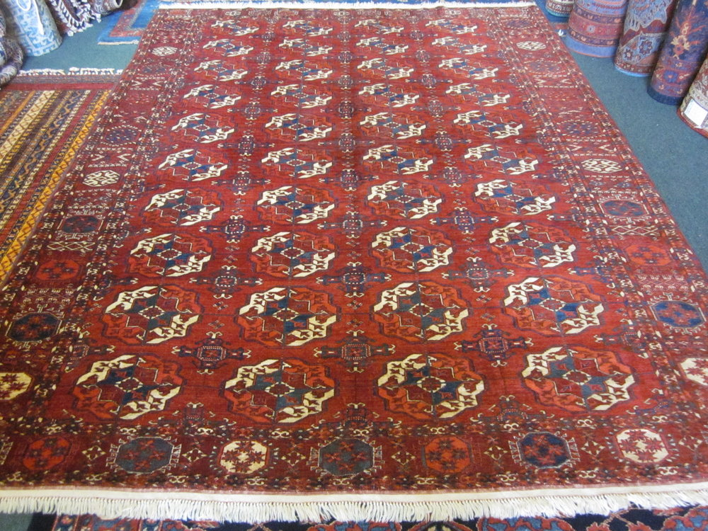 6 x 8 Antique Tekke Turkoman rug. Sold.