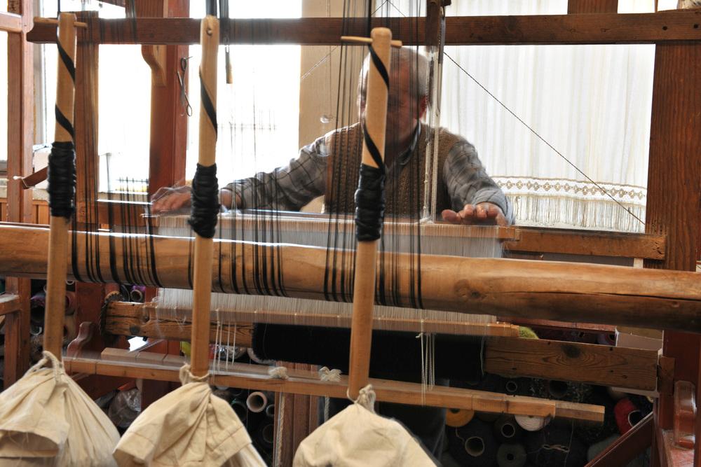 A traditional handloom.