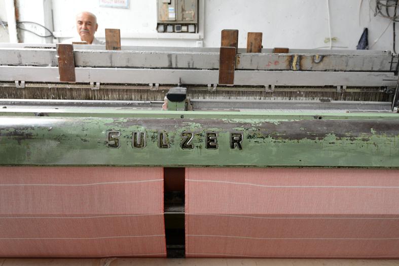 1970s Swiss Sulzer loom.