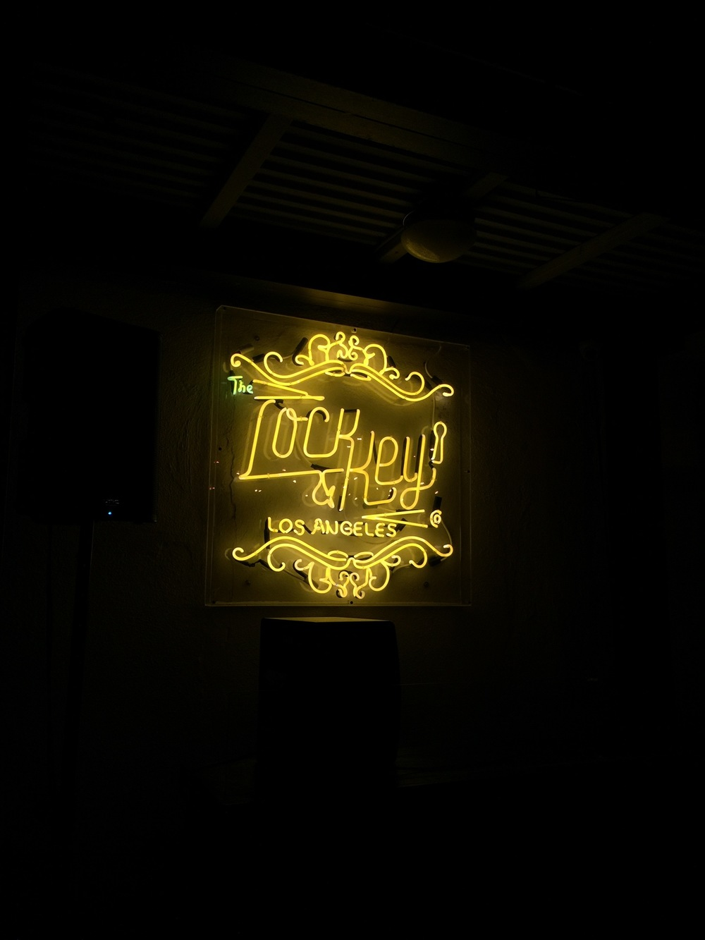Neon sign at the DJ booth