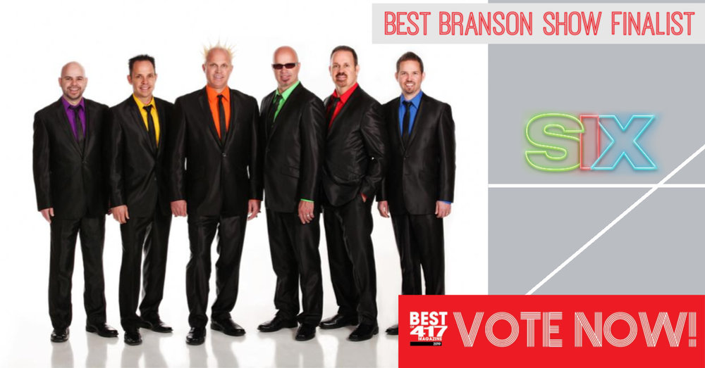 VOTE FOR US! We've been nominated for 417 Magazine's BEST BRANSON SHOW! Click above to vote for us and the next song we sing will be for you!