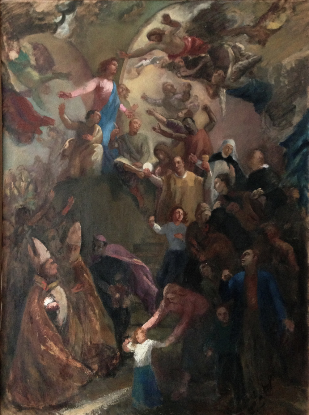 The Birth and Renewal of the Church -- modello for the mural in the Church of Saint Charles Borromeo