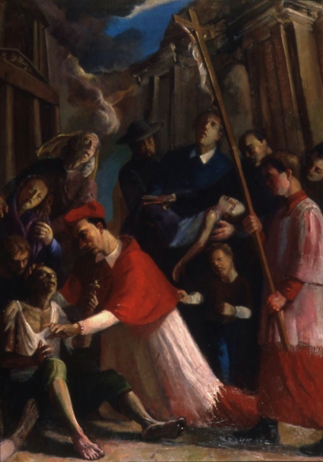 Saint Charles Borromeo Tending the Plague-Stricken
