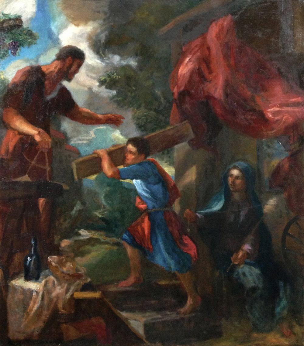 """""""Nazareth"""" small version oil on canvas 34"""" x 30"""""""