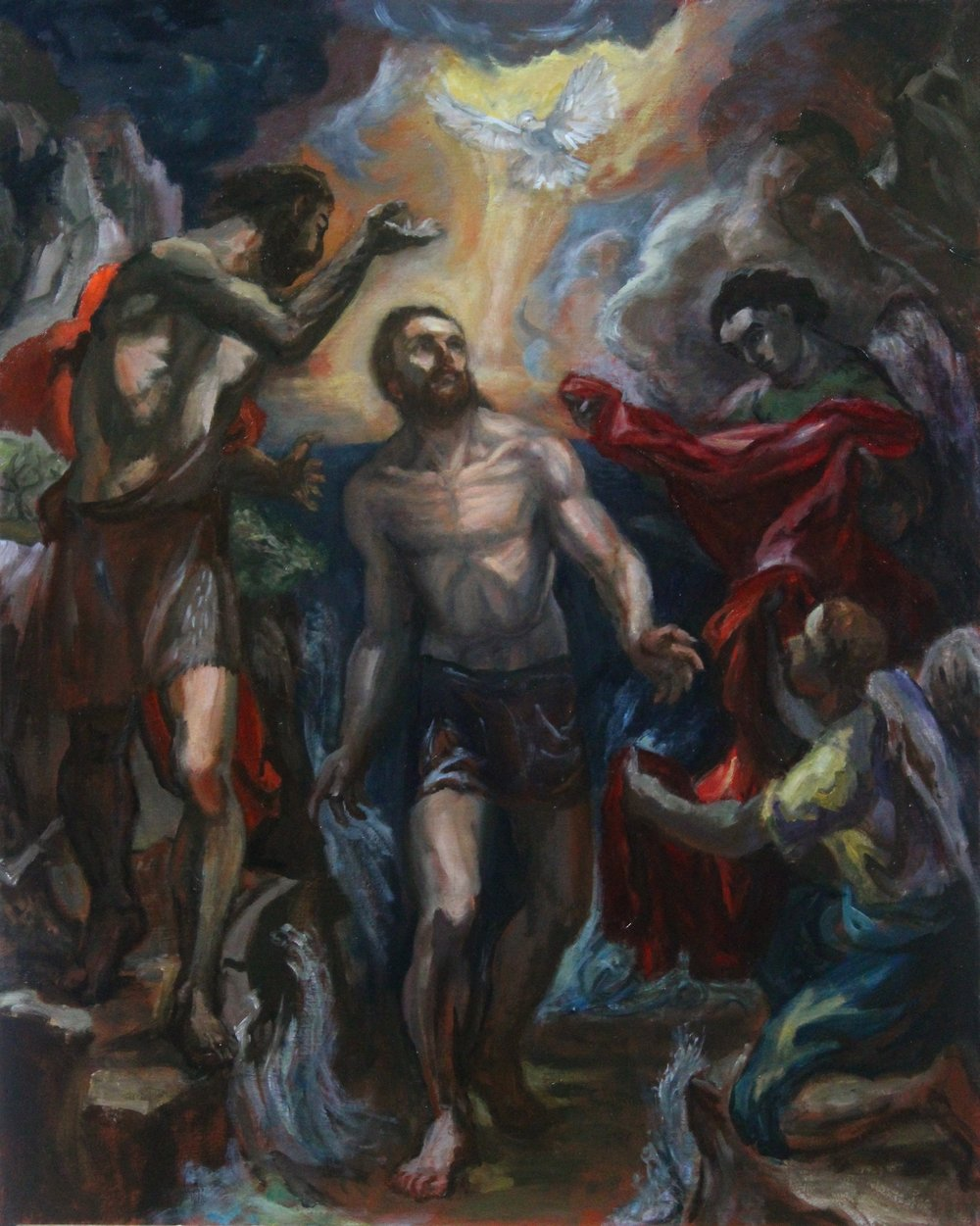 Baptism of Christ (study for a mural)