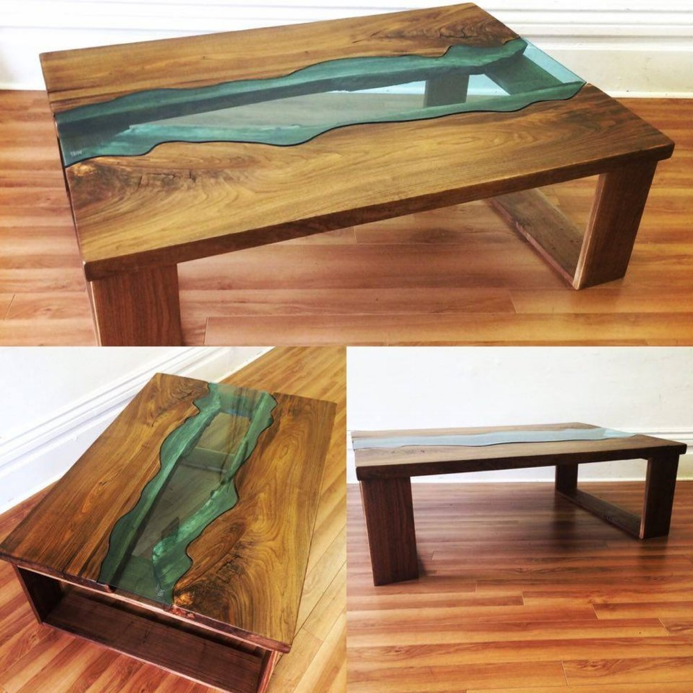 Thames river coffee table live edge forest for Coffee tables london ontario