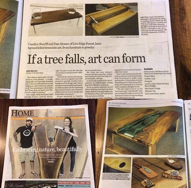 LEF in London Free Press, Homes section