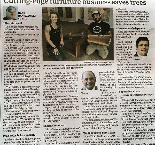 LEF in London Free Press, Business Section