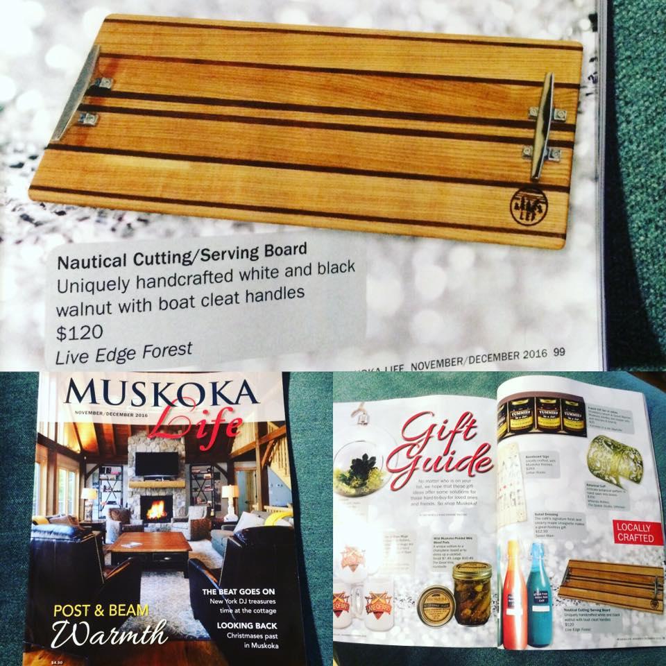 LEF Nautical board featured, Muskoka Life Magazine