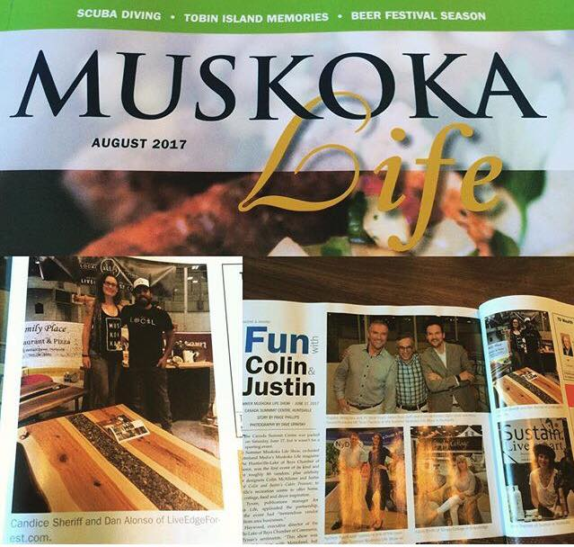 Muskoka Life Show feature with Colin + Justin