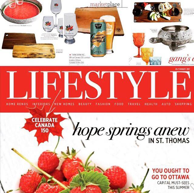 Canada Day spread in Lifestyle magazine