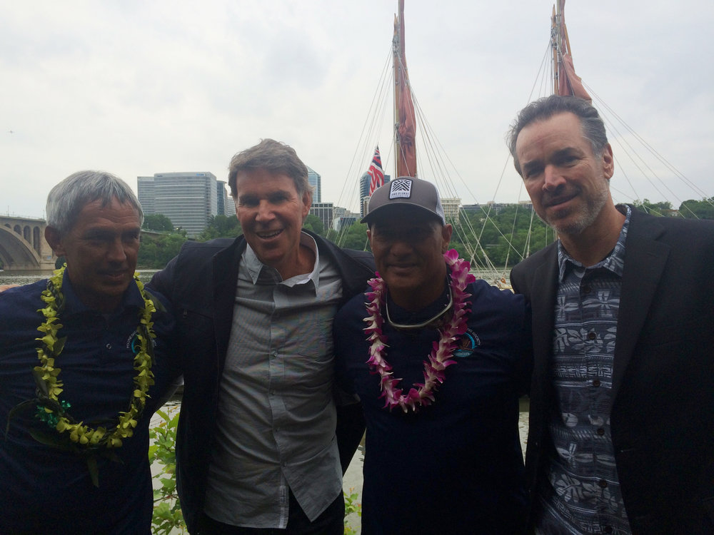 Nainoa Thompson, Dan McInerny, Archie Kalepa and Jimmy Hormel