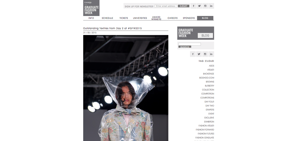 PHOTOGRAPH OF LOOK 1 ON THE CATWALK, FEATURED ON GFW BLOG