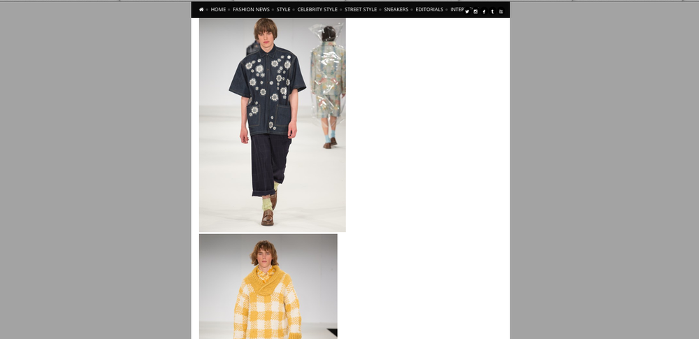 PAUSEMAG.CO.UK FEATURED MY COLLECTION ALONG WITH FELLOW MENSWEAR STUDENTS AT EPSOM.