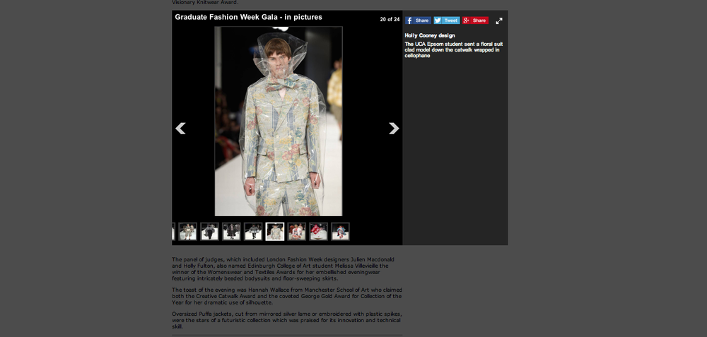 Mentioned in 'The standards' article for the GFW Gala show.