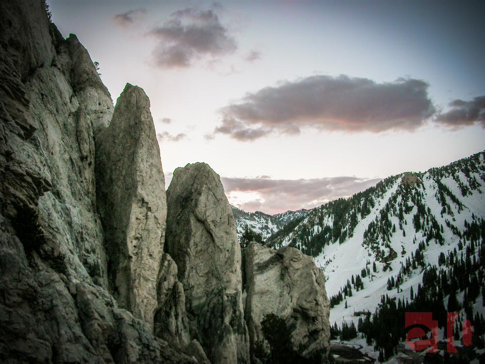 The Hell Gate Towers at the top of Little Cottonwood Canyon, UT.