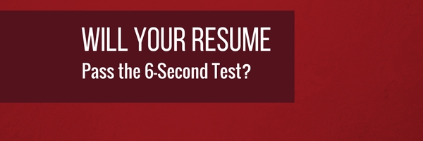 Is your resume costing you interviews? Test it for FREE with our 6-Second Resume Test.