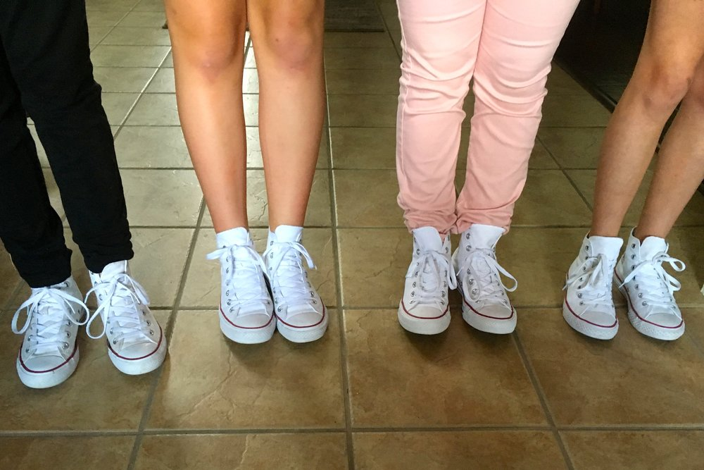 Just a few of our best friends sporting high top chuck taylors....they were swarming the halls in Murphy, Texas!