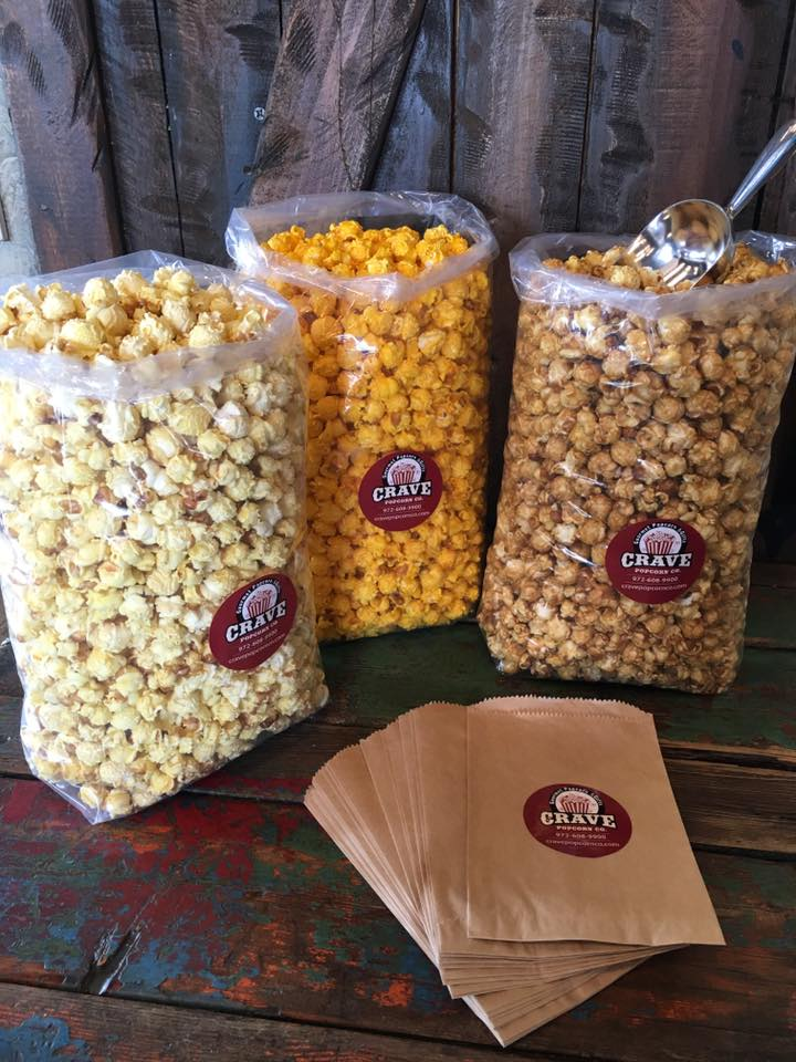 This popcorn bar set up is just $45.  Includes 3 large bags of popcorn (about 75 cups total), 25 serving bags, and 1 scoop.  Serves about 25 guests.  Now available on our website!