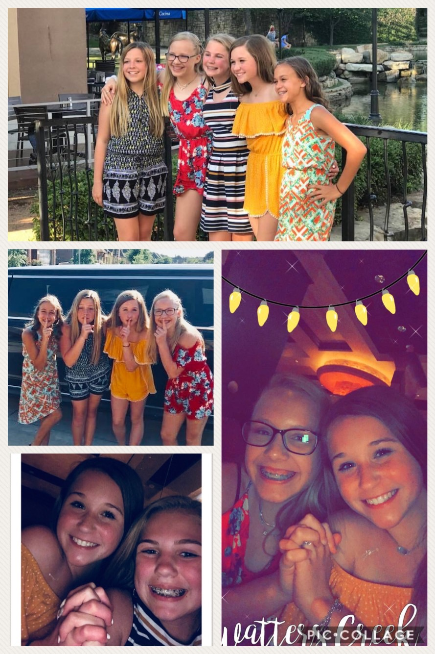 Our sweet friend, Paige's surprise birthday limo ride and dinner at Cheesecake Factory!