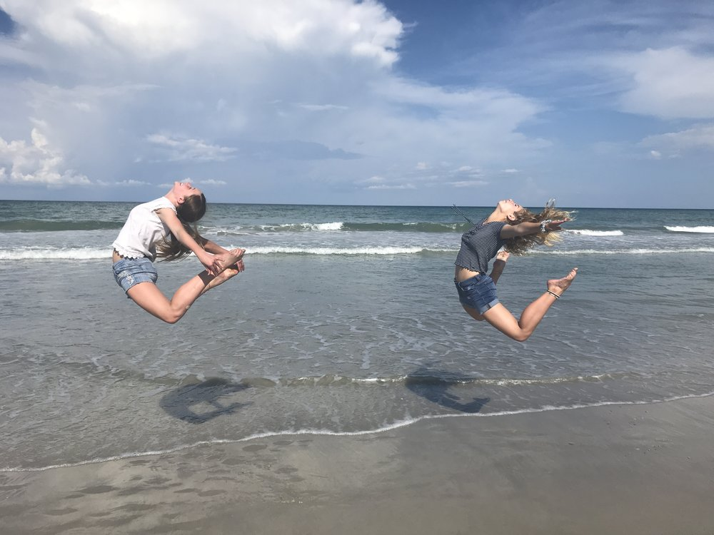 A couple hours at Cocoa Beach....this is what dancers do on the beach!