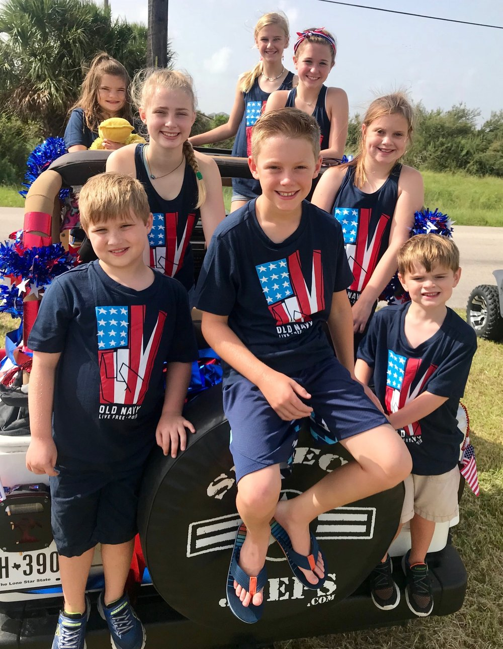 Annual 4th of July parade with this crazy crew.