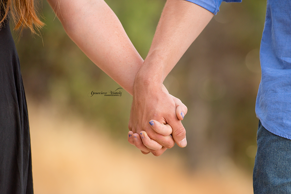 Walking hand in hand.