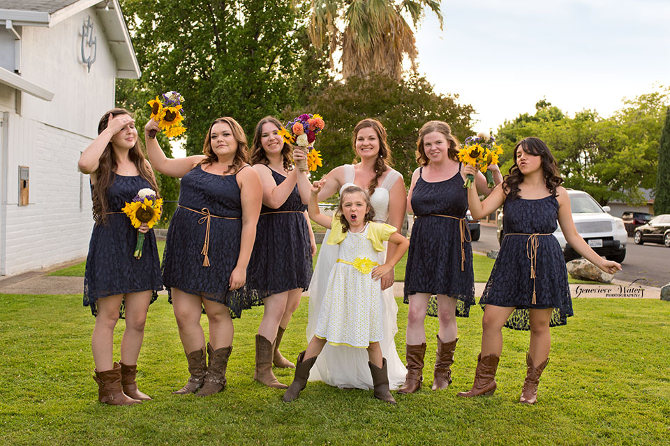 The adorable flower girl couldn't keep a straight face, so we went with it!