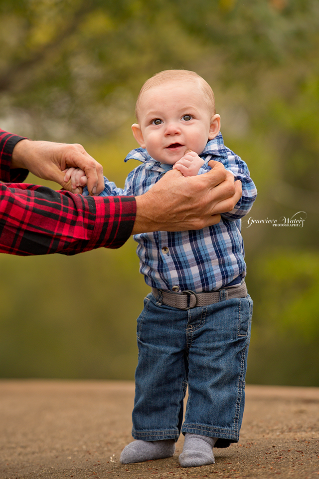 We have been incorporating Baby John's Grandpas hands in a photo from each session since he was a newborn.