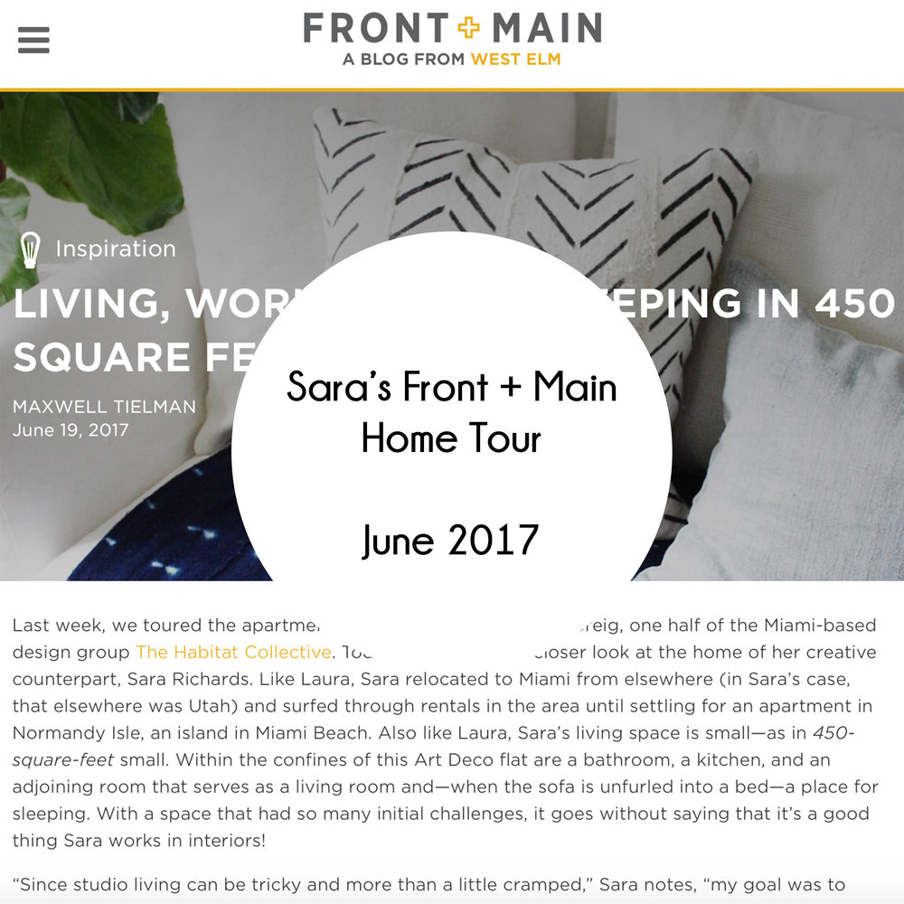 Sara Front and Main Home Tour Rollover
