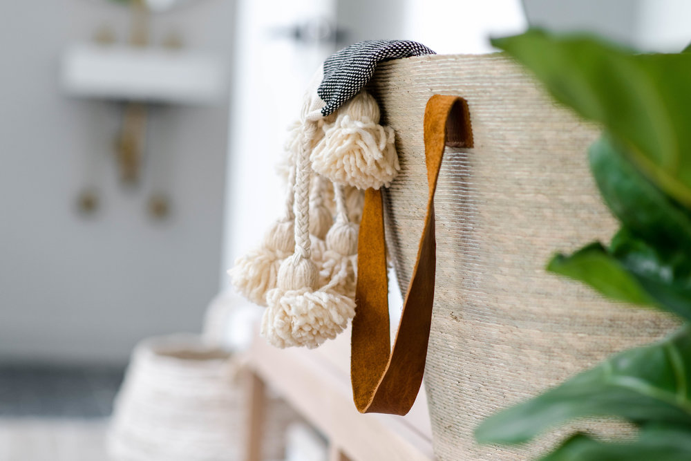basket with throw - the habitat collective interior design - #projectpeachy
