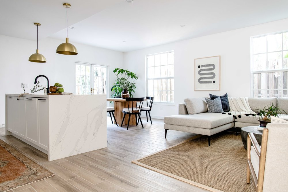 open plan kitchen and living area - the habitat collective interior design - #projectpeachy