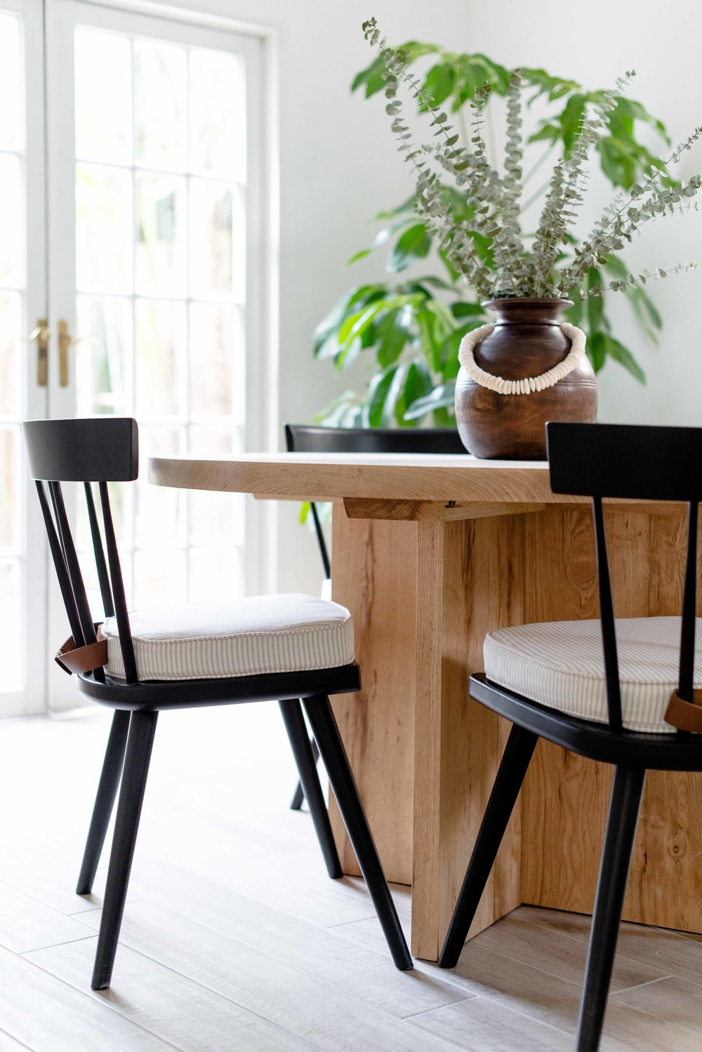 modern wooden dining table - the habitat collective interior design - #projectpeachy