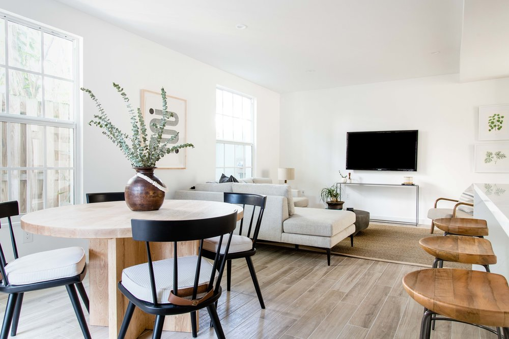 open plan kitchen, dining and living area - the habitat collective interior design - #projectpeachy