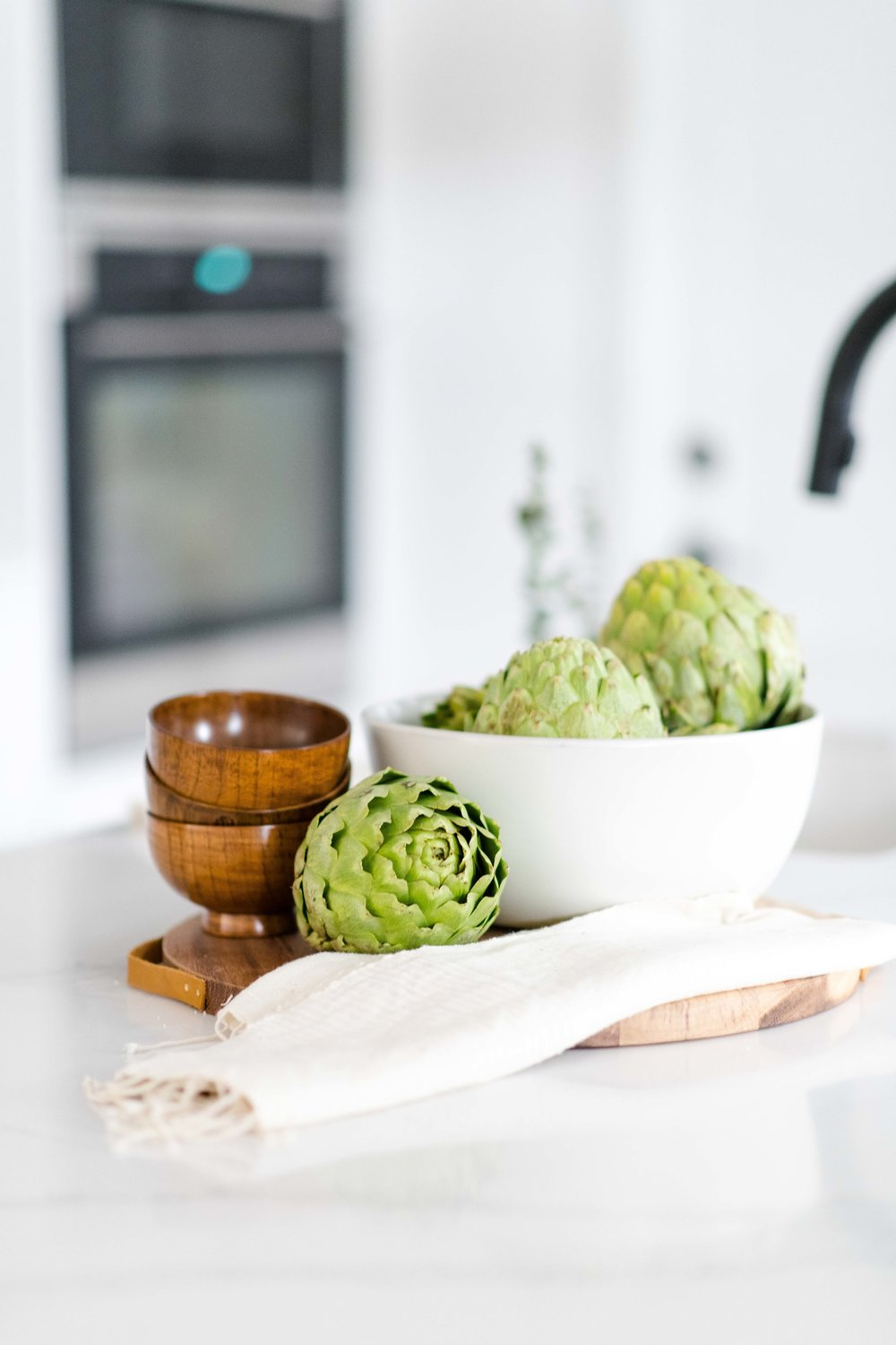 kitchen styling with artichokes - the habitat collective interior design - #projectpeachy