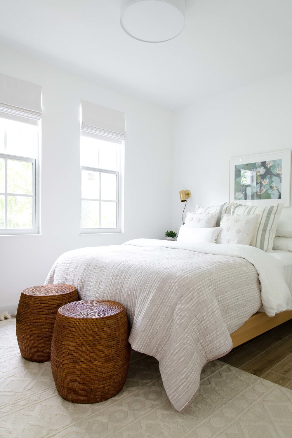 bright and airy guest bedroom - the habitat collective interior design - #projectpeachy