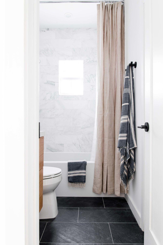 marble guest bathroom shower - the habitat collective interior design - #projectpeachy