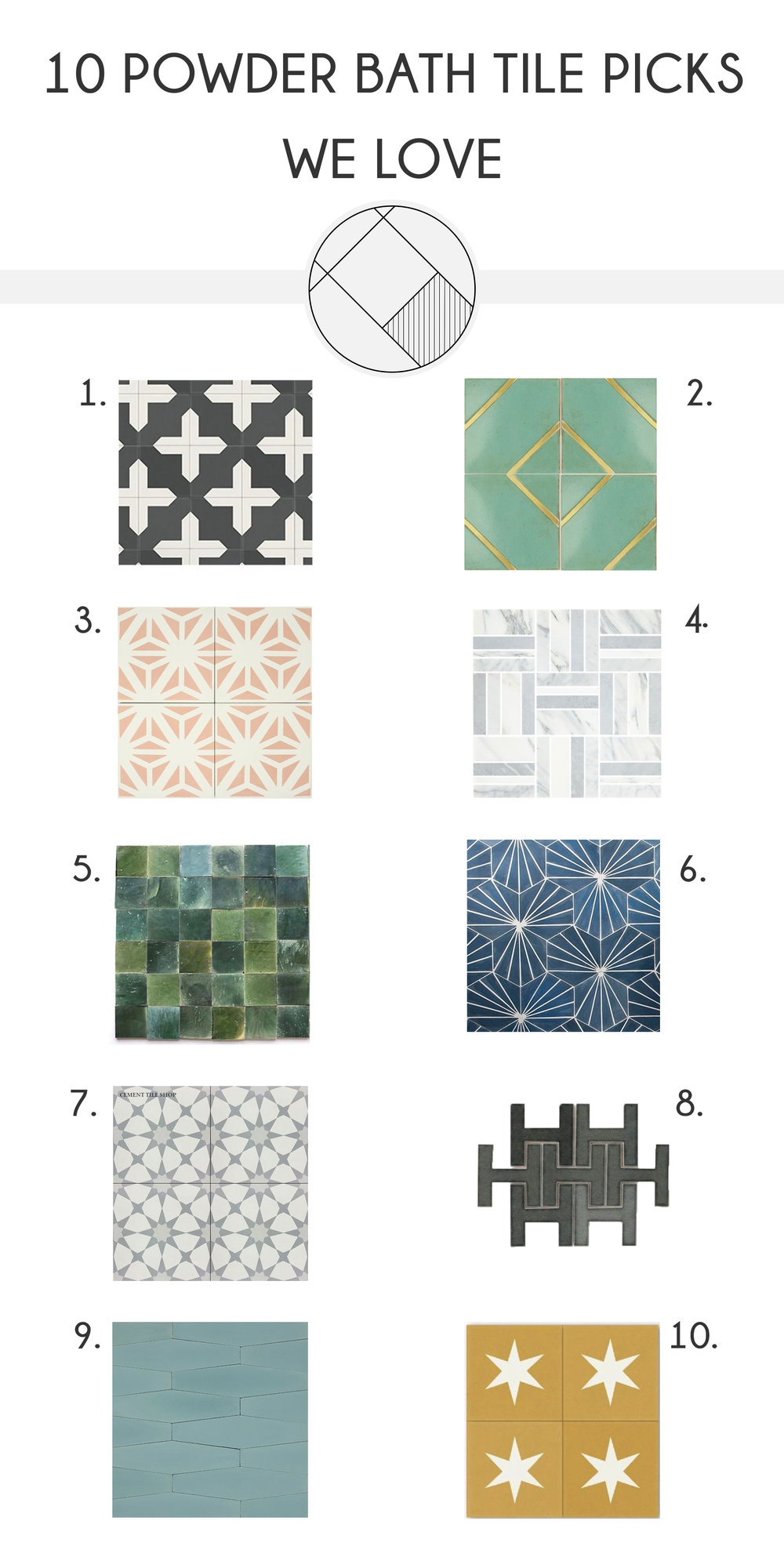 10 Powder Bat Tile Picks - The Habitat Collective