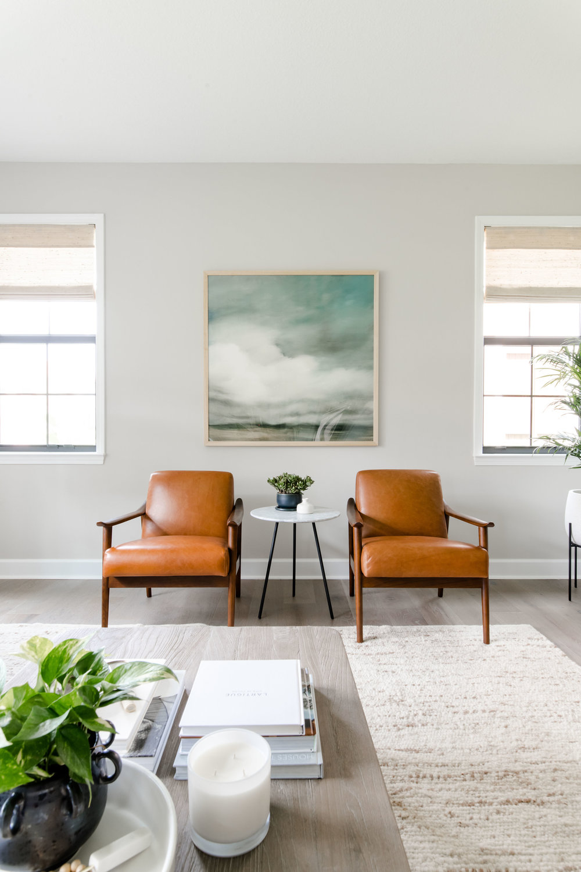parkland project living room - the habitat collective - interior design