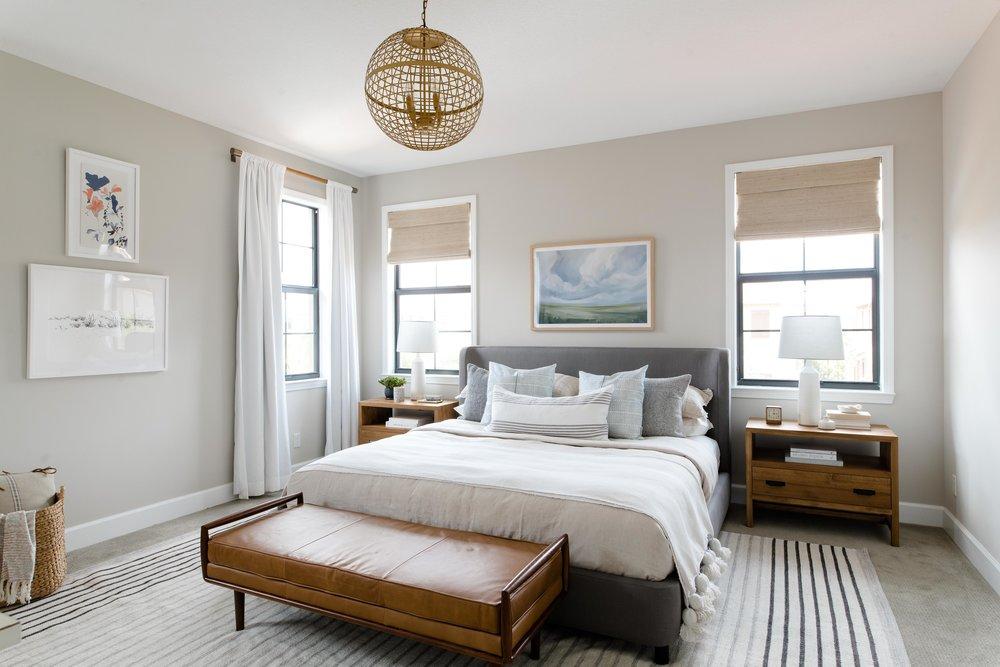 parkland project master bedroom - the habitat collective - interior design