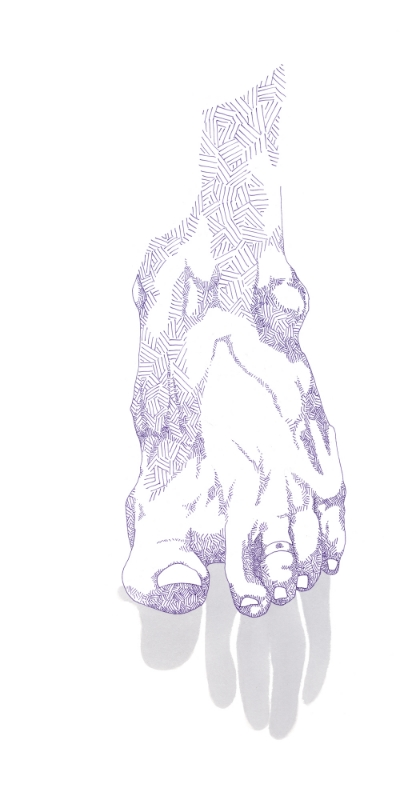 foot in purple