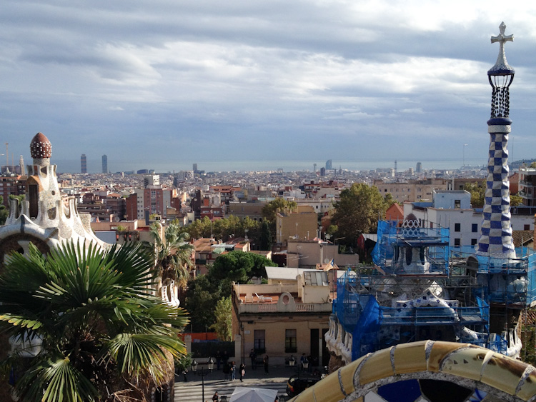 barcelona as seen from park guell