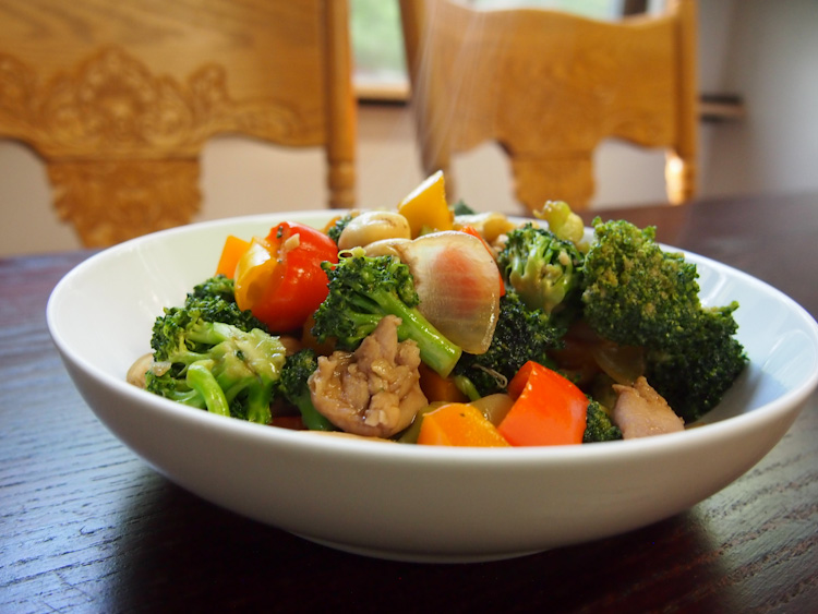 CHICKEN AND VEGETABLES STIR-FRY | VERMILION ROOTS