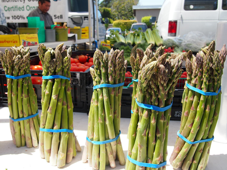 asparagus at a farmers market in the san francisco bay area
